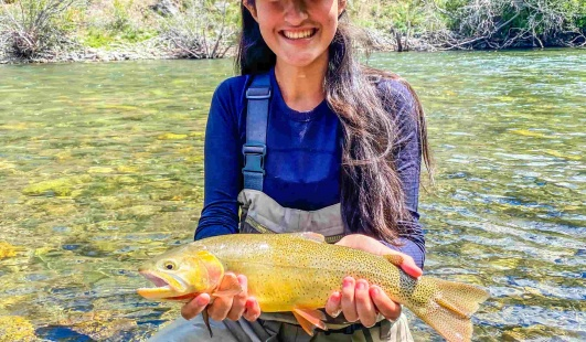 women's intro to fly-fishing clinics